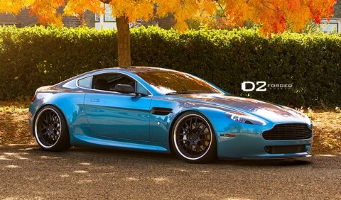 Aston Martin V8 Vantage on 20 inch D2Forged Wheels