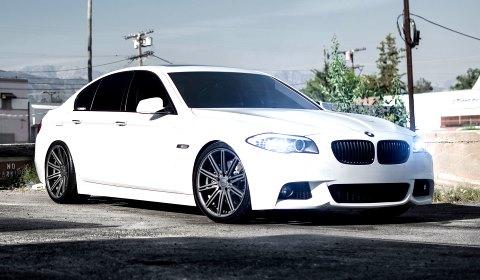 BMW 5 Series on 20 inch Vossen Wheels