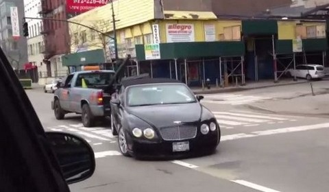 Bentley Continental Towing Fail