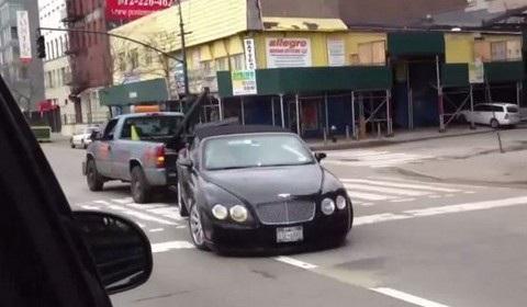 Bentley Continental Towing Fail