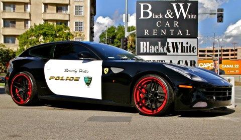 Black and White Car Rental Ferrari FF