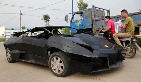 Overkill Lamborghini Reventon Replica Built By Chinese Farmer