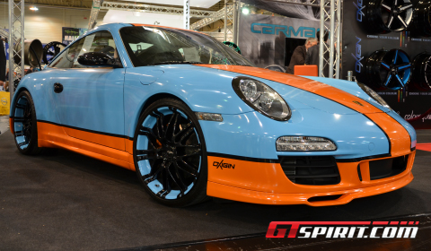 Essen 2012 Gulf-themed Porsche 911 on Oxigin Wheels