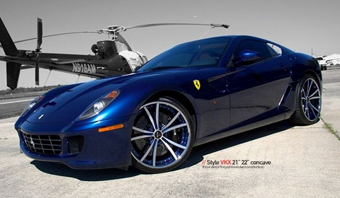 Ferrari 599 GTB on VKX Vellano Wheels