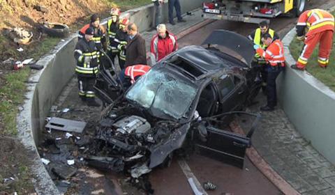 Porsche and Mercedes Wreck in Fatal Car Crash in Belgium