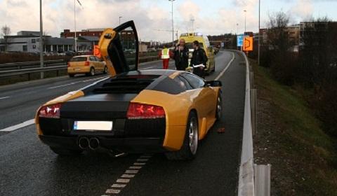 Lamborghini Murcielago Crash Norway