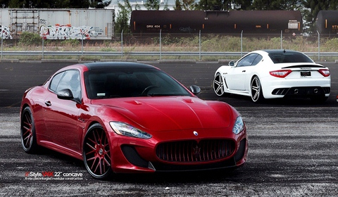 Maserati Gran Turismo on VKK Vellano Wheels