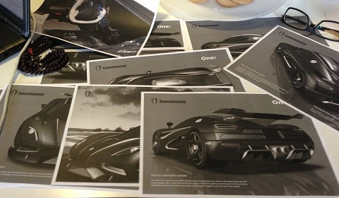 Mysterious Koenigsegg One 1 Design Drawings