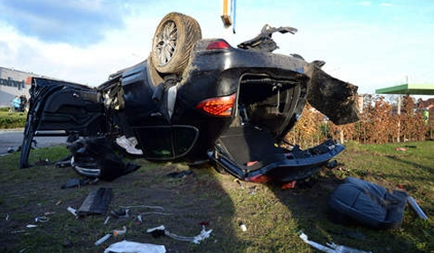 Porsche and Mercedes Wreck in Fatal Car Crash in Belgium 03