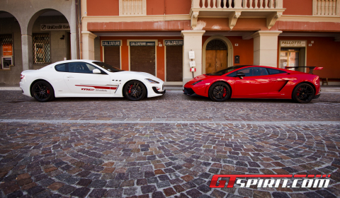 Road Test Lamborghini Gallardo Super Trofeo Stradale vs Maserati GranTurismo MC Stradale 03
