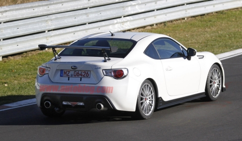 Spyshots 2014 Subaru BRZ STI at the Nurburgring 01