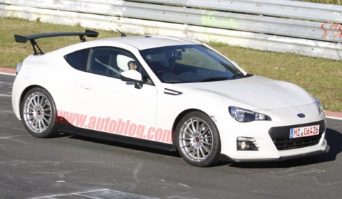 Spyshots 2014 Subaru BRZ STI at the Nurburgring