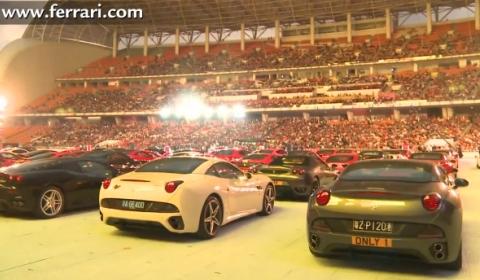 Video 250,000 People Celebrate Ferrari's 20th Anniversary in China