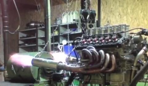 Video DMC LP800 Murcielago Engine Shooting Flames