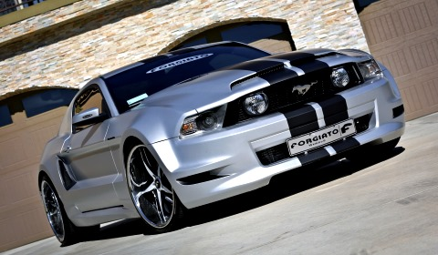 Wide Body Ford Mustang GT with F2.05 Forgiato Wheels