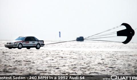 World's Fastest Audi Clocks 260mph at Bonneville Salt Flats