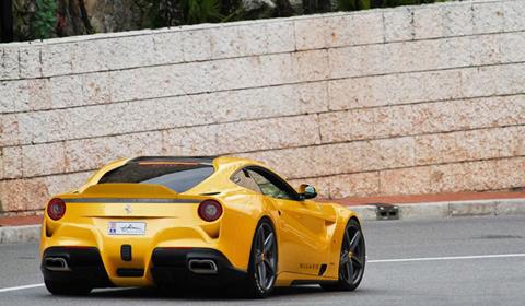 Ferrari F12 Berlinetta Giallo Acquila by Evren Milano
