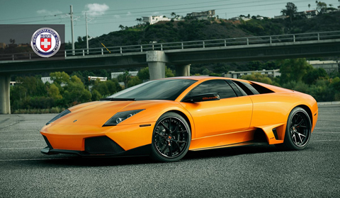 Orange Lamborghini Murcielago LP640 on HRE S101 Wheels
