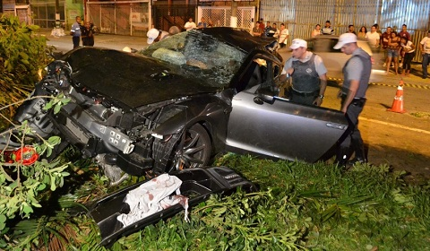 AMS Alpha Nissan GT-R Wrecked in Brazil