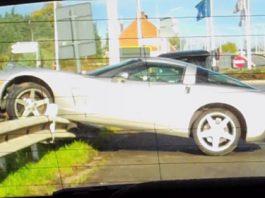 Car Crash Chevrolet Corvette C6 in Belgium