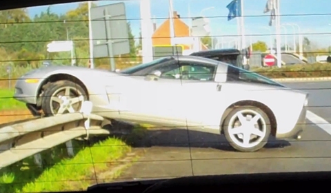 Car Crash Chevrolet Corvette C6 in Belgium