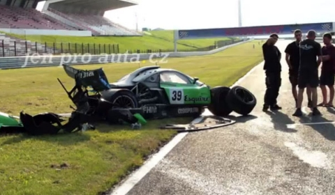Car Crash Pagani Zonda GR Racer Wrecked at Most Circuit 01