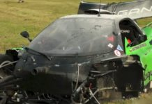 Car Crash Pagani Zonda GR Racer Wrecked at Most Circuit