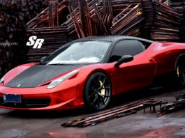 Chrome Red Ferrari 458 italia by SR Auto Group