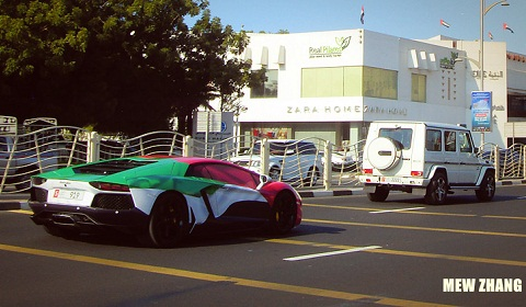 Epic National Day Supercar Wraps in Dubai