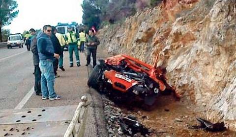 Ferrari 458 Spider Wrecked in Mallorca