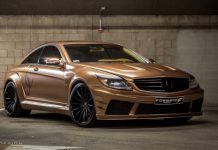 Gold Mist Mercedes CL 65 AMG with F2.15 Forgiato Wheels