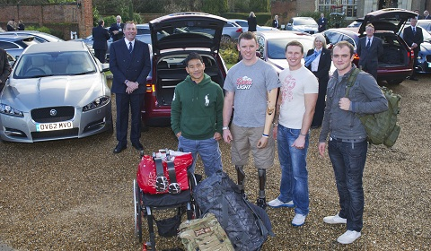 Jaguar Helps Injured Soldiers Get Home for Christmas