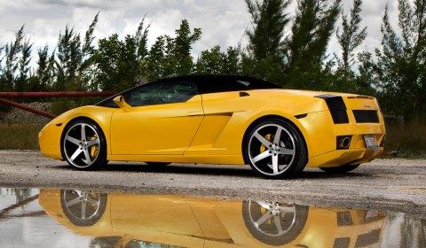 Lamborghini Gallardo Spyder with CW-5 Concavo Wheels