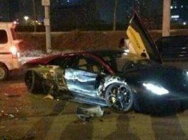 Lamborghini Murcielago LP640 Wreck in China