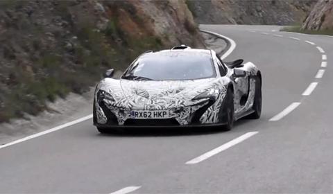McLaren P1 spied driving