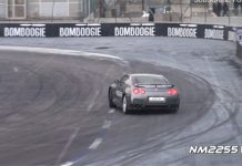 2013 Nissan GT-R Powersliding and Accelerating
