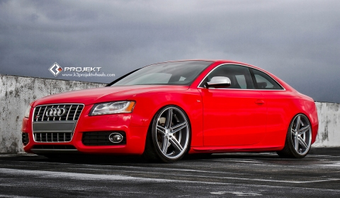 Red Audi S5 on K3 Project Wheels