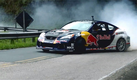 Rhys Millen Drifts Up the Side of a Mountain in Brazil