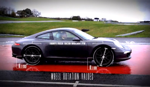 Porsche 911 Carrera 4 in slippery conditions