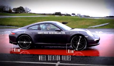 Porsche 911 Carrera 4 in slippery conditions