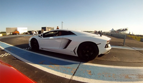 Lamborghini Aventador vs Twin-Turbo Audi R8 V10 by Heffner