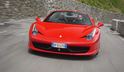 Ferrari 458 Italia in the Stelvio Pass