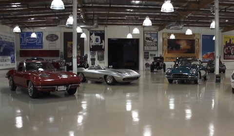 Jay Leno Looks at Four Iconic Corvette's