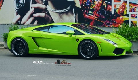 Verde Ithaca Lamborghini Gallardo LP560-4 on ADV5.2TS Wheels