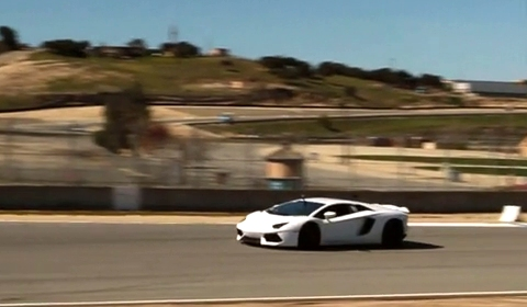 Video 2012 Lamborghini Aventador at Laguna Seca Raceway