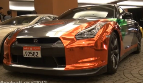 Video Nissan GT-R in UAE National Day Livery