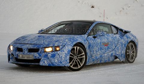 BMW i8 spy shots