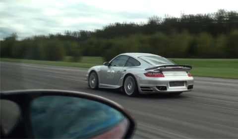 BMW 1M Coupe vs SpeedArt BRT600 Porsche 911 Turbo