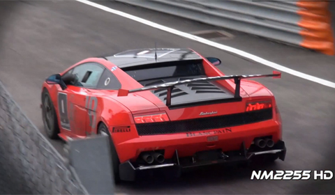 Video: Lamborghini Gallardo SuperTrofeo Full Throttle Accelerations