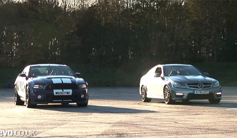 2013 Ford Mustang Shelby GT500 vs Mercedes-Benz C63 AMG